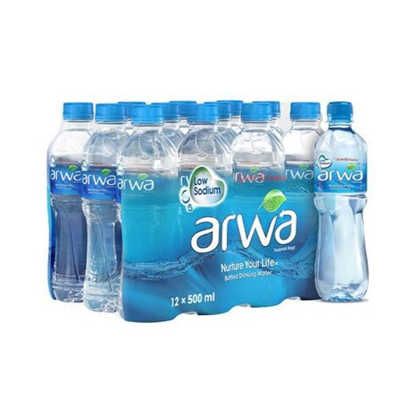 Arwa Bottled Drinking Water 500ml X Pack Of 12