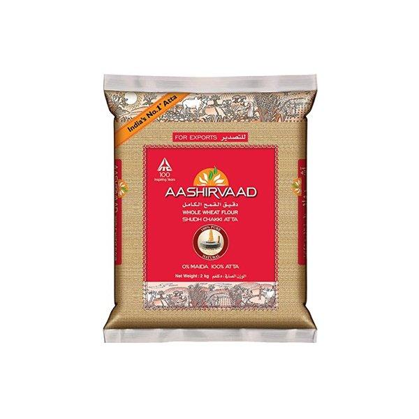Ashirwaad Whole Wheat Atta 2kg