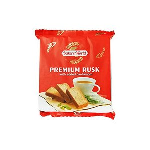 Bakers World Premium Rusk With Added Cardamom 200 G
