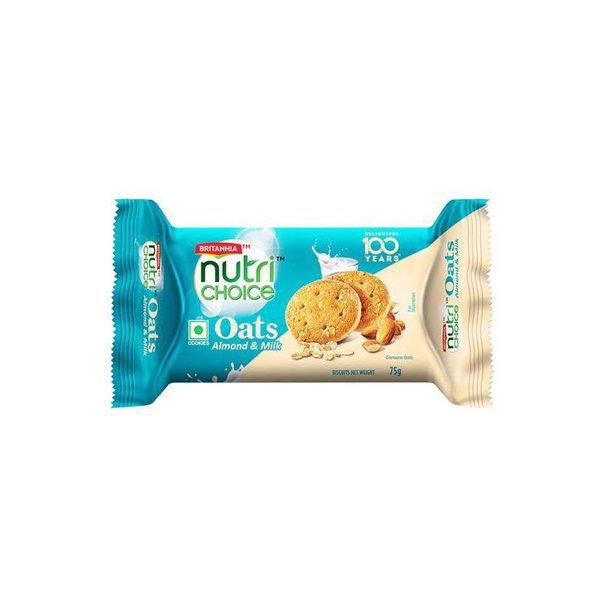 Britannia Oats Almonds Cookie 75 Gm