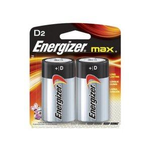 Energizer Max Alkaline D Battery Pack Of 2