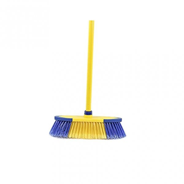 Broom With Hard Brush & Stick
