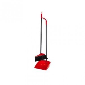Long Handle Dustpan Set With Brush
