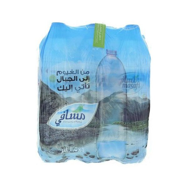 Masafi Bottled Drinking Water 1.5l X Pack Of 6