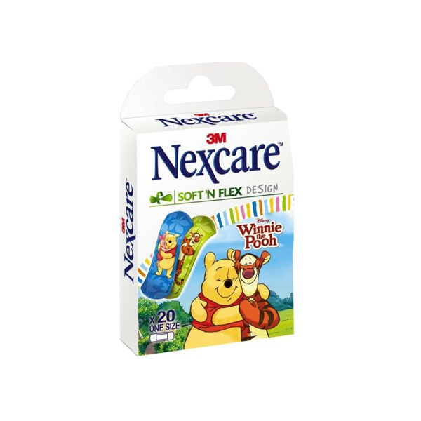 Nexcare Pack Of 20 Soft N Flex With Winnie The Pooh Design