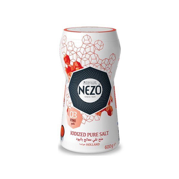 Nezo Fine Table Salt Iodized 600g