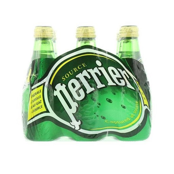 Perrier Natural Sparkling Mineral Water 200ml X Pack Of 6