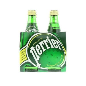 Perrier Natural Sparkling Mineral Water 330ml X Pack Of 4