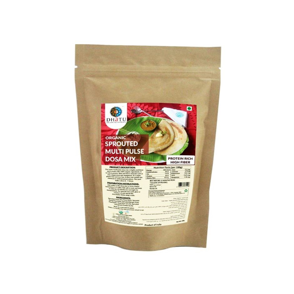 Organic Sprouted Multi Pulse Dosa Mix 200g
