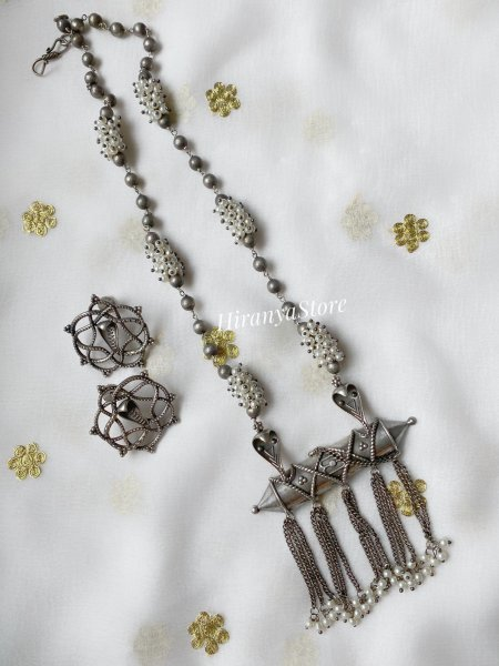 Shiva Themed Necklace and Studs