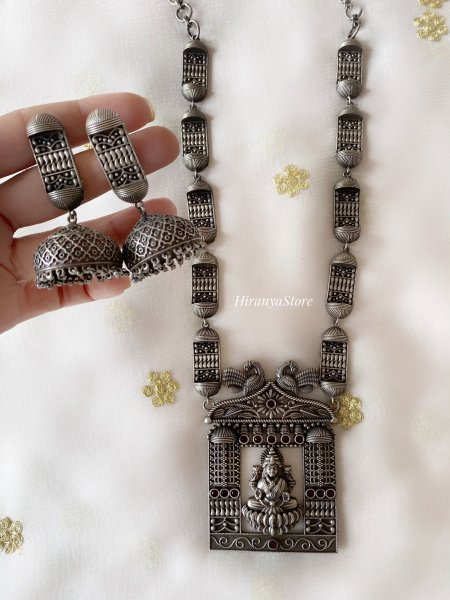 Devi Necklace with Jhumkas