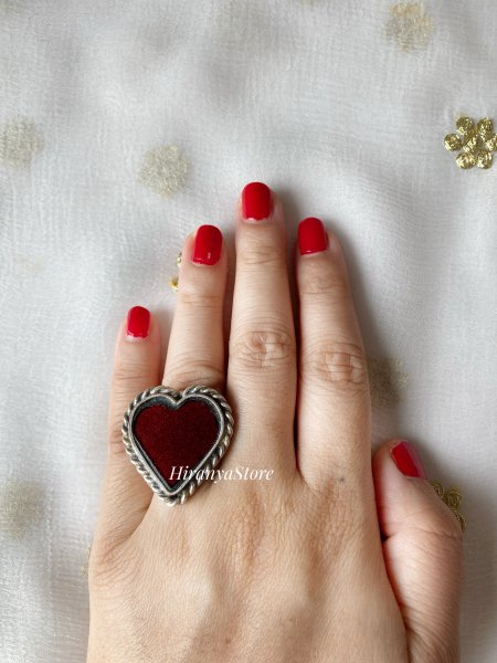 Dil Se Glass Ring (Red)
