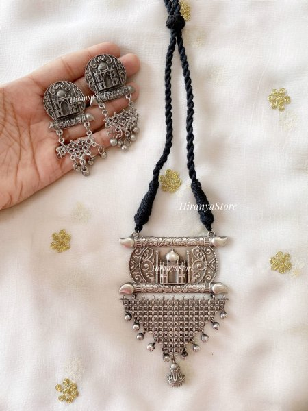 Wah Taj Necklace with Matching Studs (OFFER)