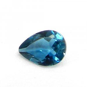 0.7 Cts London Blue Topaz Gemstone Pear Cut 5x7mm IG4125