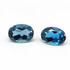 1 Cts London Blue Topaz Gemstone Oval Cut 5x7mm IG4142