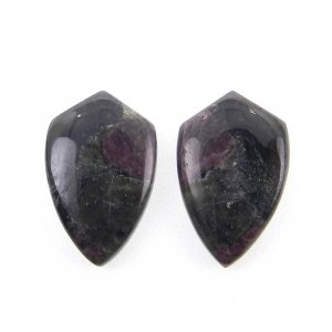 1 Pair Eudialyte 17x11mm Shield Shape 12.55 Cts