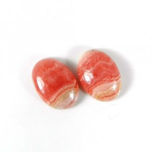 1 Pair Factory Wholesale Rhodochrosite Gemstone 14x10mm Oval Cabochon 7.60 Cts