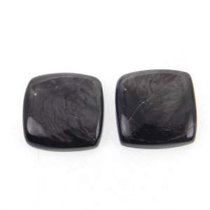 1 Pair Hypersthene 14x14mm Square Cabochon 19.95 Cts