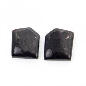 1 Pair Hypersthene 15x13mm Fancy Shape 19.0 Cts