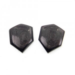 1 Pair Hypersthene 17x13mm Shield Shape 18.35 Cts