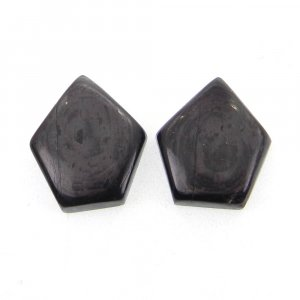 1 Pair Hypersthene 17x14mm Shield Shape 17.35 Cts