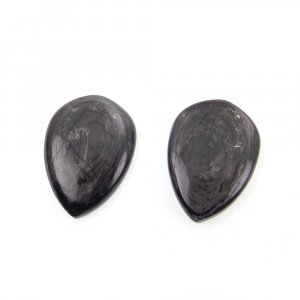 1 Pair Hypersthene 18x13mm Pear Cabochon 14.90 Cts