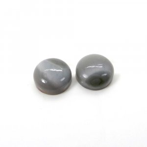 1 Pair Imperial Jasper 14mm Round Cabochon 19.65 Cts