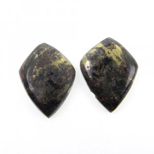 1 Pair Marcasite Pyrite 19x14mm Shield Shape 17.40 Cts