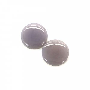 1 Pair Natural Aqua Chalcedony 9mm Round Cabochon 2.95 Cts