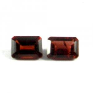 1 Pair Natural Garnet 7x5mm Rectangle Cut 2.9 Cts