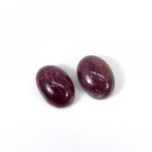 1 Pair Precious Gemstone Natural Ruby 14x10mm Oval Cabochon 10.35 Cts