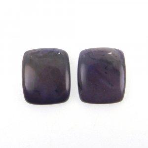 1 Pair Purpurite 15x13mm Octagon Cabochon 13.10 Cts