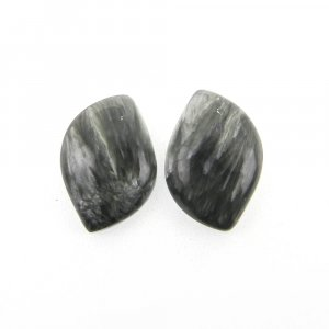 1 Pair Seraphinite 18x12mm Fancy Shape 11.60 Cts