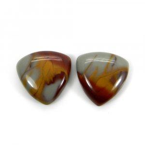 1 Pair Wholesale Gemstone Noreena Jasper 14x14mm Trillian Noreena Jasper Cabochon 11.35 Cts