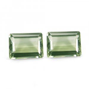 1 Pair Wholesale Green Amethyst 20x15mm Rectangle Cut 19.7 Cts