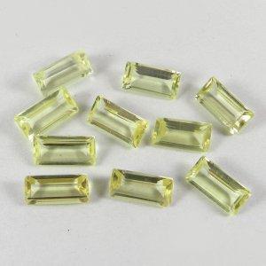 10 Pcs Natural Lemon Quartz 12x6mm  Octagon Cut 25.6 Cts
