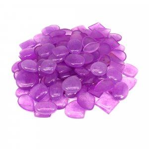 100 Gms Chinese Dyed Lavendra Jade Mix Freeform Cabochon Gemstone Wholesale Lot