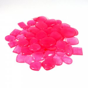 100 Gms Chinese Dyed Pink Jade Mix Freeform Cabochon Gemstone Wholesale Lot