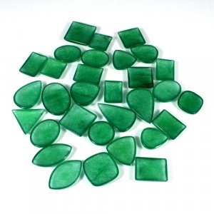 100 Gram Green Jade Freeform Cabochon Gemstone Wholesale Lot