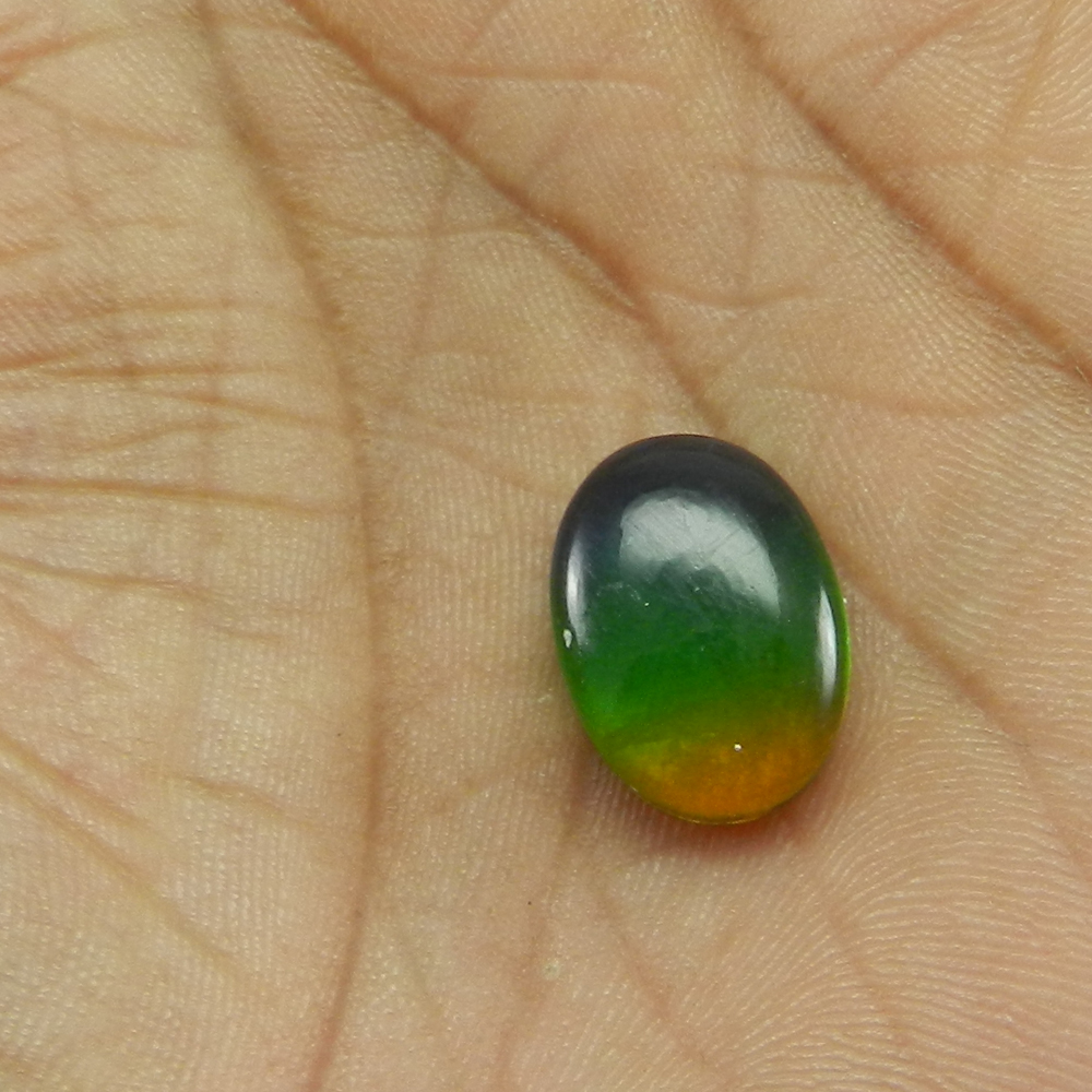 12.2 Cts Oval Cut 13x18mm Green Bio Color Doublet