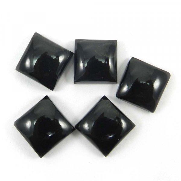 12x12mm Square Cabochon 6.7 Cts Black Onyx