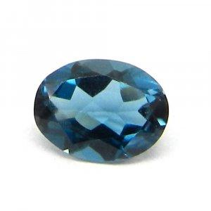 1.5 Cts London Blue Topaz Gemstone Oval Cut 6x8mm IG4140