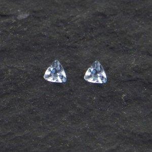 2 Pcs Blue Aquamarine 2x2mm Triilion Cut 0.05 Cts