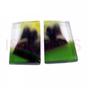 2 Pcs Maxican Glass 13x9mm Fancy Flat 5.50 Cts