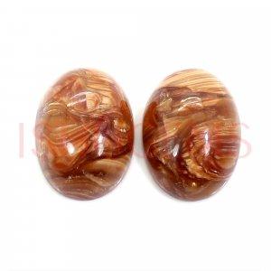 2 Pcs Natural Honey Opal 14x10mm Oval Cabochon 9.20 Cts