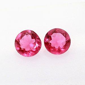 2 Pcs Pink Tourmaline Hydro 9mm Round Cut 4.85Cts