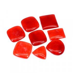 23 Gram Red Jade Freeform Cabochon Gemstone Wholesale Lot