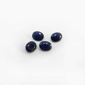 4 Pcs Blue Sapphire 4x3mm Oval Cut 0.80 Cts