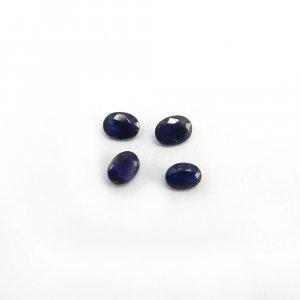 4 Pcs Blue Sapphire 4x3mm Oval Cut 0.90 Cts