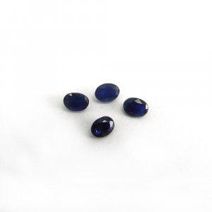 4 Pcs Blue Sapphire 4x3mm Oval Cut 1.0 Cts